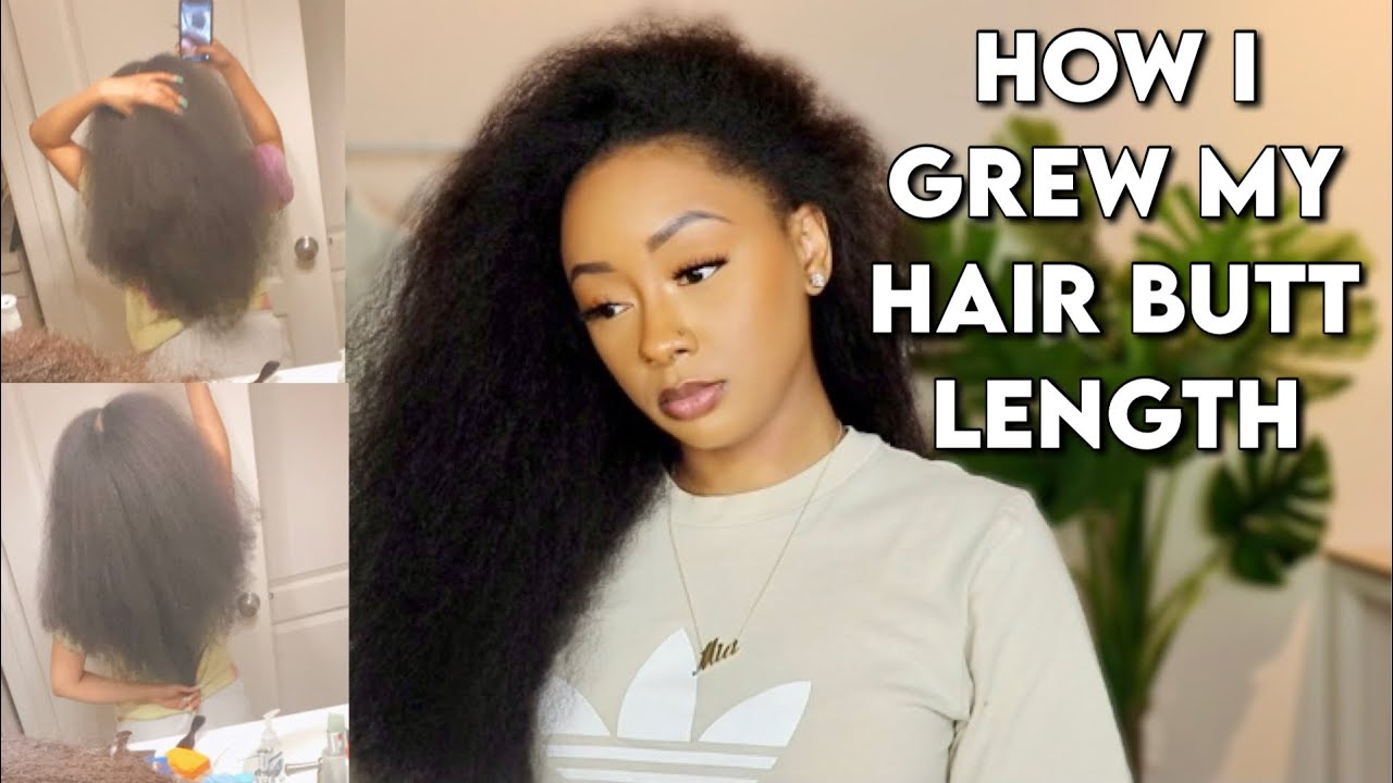 MY Magic formula TO Rising MY HAIR TO BUTT Length | HOW TO Grow YOUR Natural HAIR
